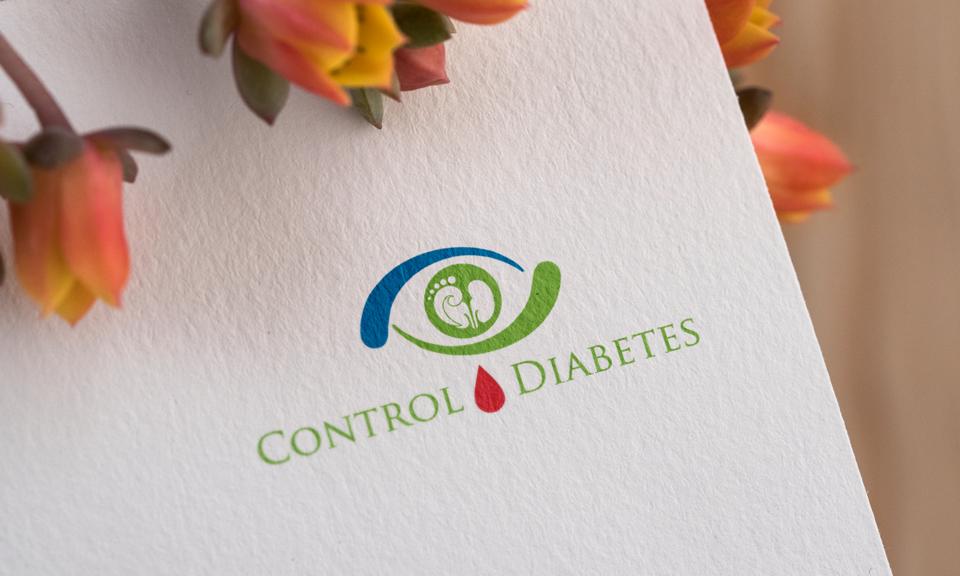 control diabetes logo design